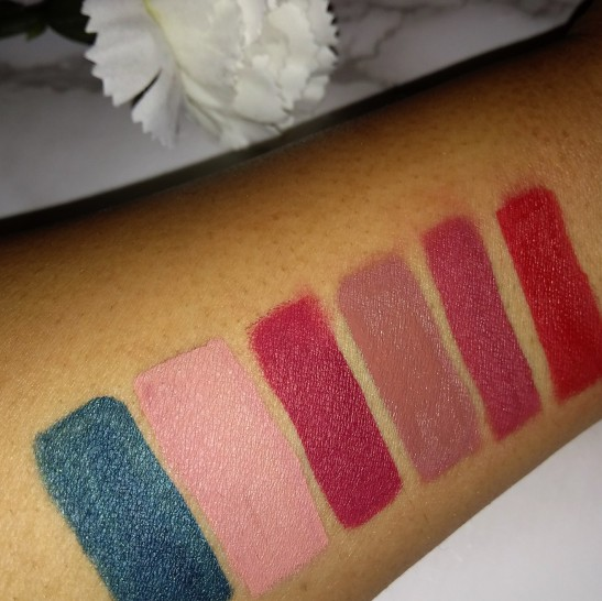 From left to right, requiem, stripped,currant, Toast, dazed, American doll
